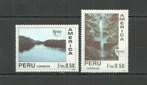 P1149 1990 PERU NATURE LANDSCAPES WATERFALLS AMERICA UPAEP SET FIX