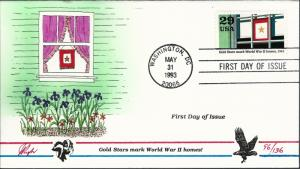 Beautiful Pugh Designed FDC Gold Stars Mark WWII Homes  #96 of 136