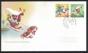 Christmas Is. Crab Birds Christmas 2v issue 2005 FDC SG#579-580