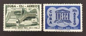 Cuba 1958 #C193-4, Unesco, MNH.