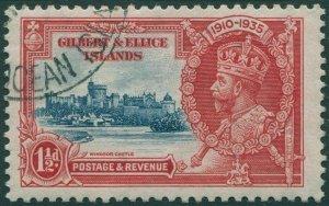Gilbert & Ellice Islands 1935 SG37 1½d Silver Jubilee KGV FU