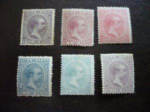 Stamps - Cuba - Scott# 135,139,143,146,149,153 - Mint Hinged Set of 6 Stamps