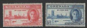GRENADA SG164/5 1946 VICTORY MNH