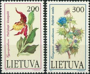 Lithuania MNH 425-6 Flowers 1992