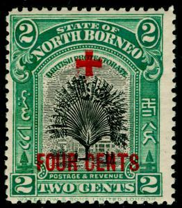NORTH BORNEO SG236, 2c +4c green, LH MINT.