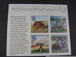 U.S. # 2438--MINT NEVER/HINGED---SOUVENIR SHEET--WORLD STAMP EXPO--1989
