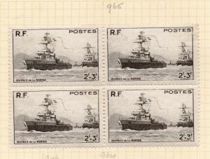 France 1946-47 Early Issue Fine Mint Hinged 2f. Block 232682