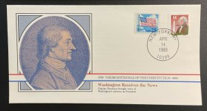 US #2149,2278 On Cover - Bicentennial of Constitution 1787-1987 [BIC66]