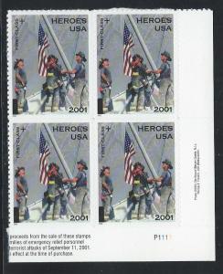 UNITED STATES SC# B2  PL#P1111 LR B/4 VF/MNH  2002