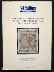 Auction Catalogue HAROLD FISHER 19th CENTURY GREAT BRITAIN POSTAGE STAMPS