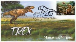 19-346, 2019, T-Rex, Pictorial Postmark, Event, Manassas VA, Tyrannosaurus Rex