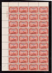 Canada #203 VF/NH Plate #1 UL Sheet Of Thirty Six