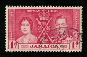 Jamaica 1937 Queen Elizabeth II & King George VI, 1d (TS-313)