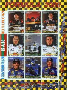 Formula 1 Race Drivers - 9 Stamp  Sheet  1C-005