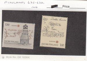 J26026  jlstamps 1979 finland set mnh #621-2 designs , all checked