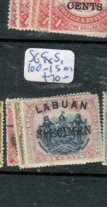 LABUAN (PP1811B)     SPECIMEN     SG 98, 100-1S  MOG