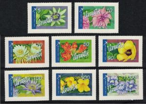 Vanuatu Flowers Orchids 8v Self-adhesive International Post High Face Value