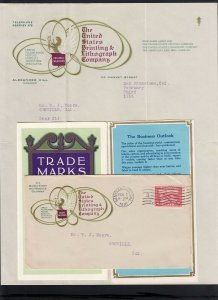 CALIFORNIA: San Francisco 1916 US PRINTING & LITHOGRAPH Cover/Letter/Brochure