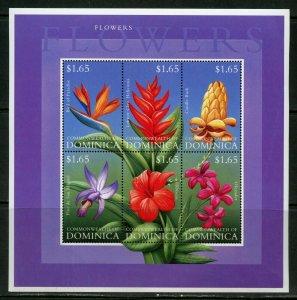 DOMINICA  FLOWERS SHEET II  OF SIX   MINT NH