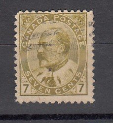 J25675 JLstamps 1903-8 canada used #92 king