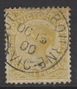 VICTORIA SG299a 1886 3d PALE OCHRE USED