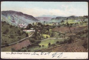 GB 1909 postcard (Grand Canary), EVII 1d PAQUEBOT / LIVERPOOL cds...........8050