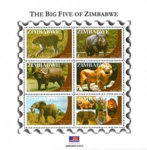 Zimbabwe - 2009 Big Five MS MNH** SG MS1283
