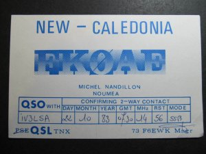 9958 Amateur Radio QSL Card NOUMEA NEW CALEDONIA