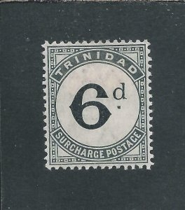 TRINIDAD & TOBAGO POSTAGE DUE 1885 6d SLATE-BLACK MM SG D7 CAT £50