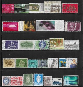 12331  Norway 28 diff. stamps - good starter collection