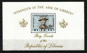 Liberia, Scott cat. C136. Boy Scouts of Liberia s/sheet. ^