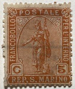 AlexStamps SAN MARINO #34 FVF Mint