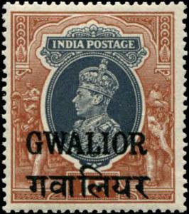 India - Gwalior SC# 112 SG# 112 Geroge VI  1r MNH