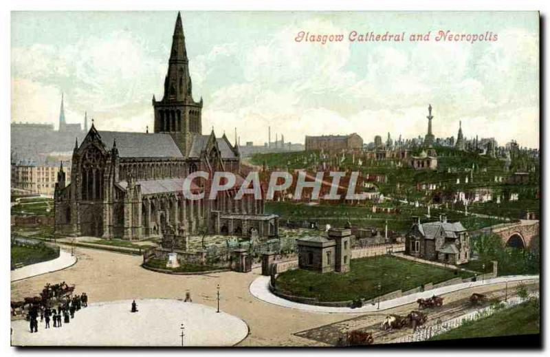 VINTAGE POSTCARD Glasgow Cathedral And Necropolis