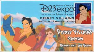 17-183, 2017, Disney Villains, Gaston, Beauty and the Beast, Pictorial, FDC