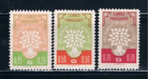 Paraguay 560-62 MH WRY Emblem 1960 (P0067)