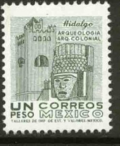MEXICO 1095, $1P 1950 Defin 9th Issue Unwmkd Fosfo Coated. MINT, NH. VF.