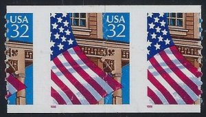 2915A - Scarce DieCut Shift Misperf Error/EFO COD Pair Flag Over Porch FOP MNH