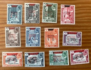 Aden Qu'aiti 1966 SOUTH ARABIA with surcharges, MNH.  Mi 53-...