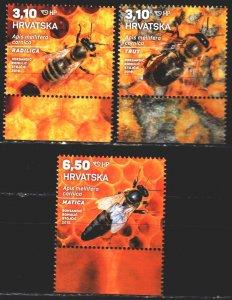 Croatia. 2019. 1254-56. Bees, fauna. MNH.
