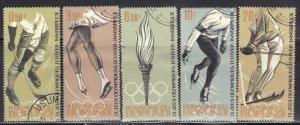 BURUNDI SC #68-72 **USED** 1964  OLYMPICS  SEE SCAN