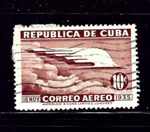 Cuba C23 Used 1936 issue some paper remnants