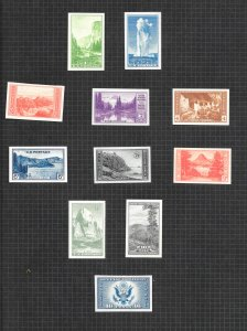 756-765 & 771 Unused, National Parks & Air Post Special Del., NGAI, Free Shippin