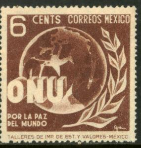 MEXICO 814, 6c Honoring the United Nations. MNH. F-VF.