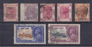 Hong Kong Sc 9/150 used 1880-1935 issues, 7 different