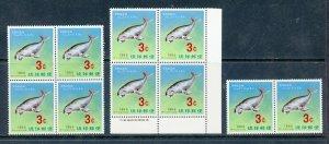 RYUKYU ISLANDS SCOTT# 142 WHOLESALE LOT OF 10 MNH STAMPS IN BLOCKS AS SHOWN