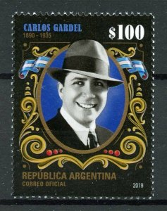 Argentina Stamps 2019 MNH Carlos Gardel Singers Songwriter Tango Music 1v Set