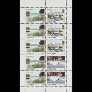 GUERNSEY 1984 - Scott# 294a Sheet-Views NH betw.folded