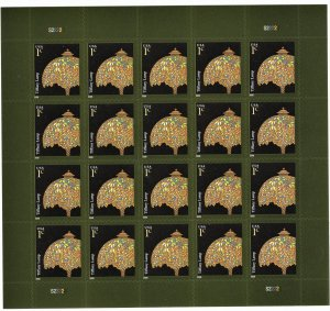 US 3749A MNH VF 1 Cent Tiffany Lamp Full Sheet of 20