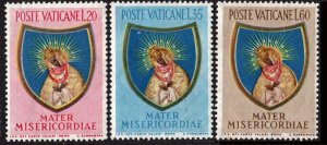 Vatican City SC#189-91 Closing of the Marian Year (1954) MNH